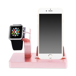 Купить Розовая док-станция CinkeyPro Charger Dock для Apple Watch и iPhone