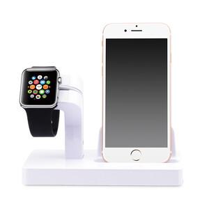Купить Белая док-станция CinkeyPro Charger Dock для Apple Watch и iPhone