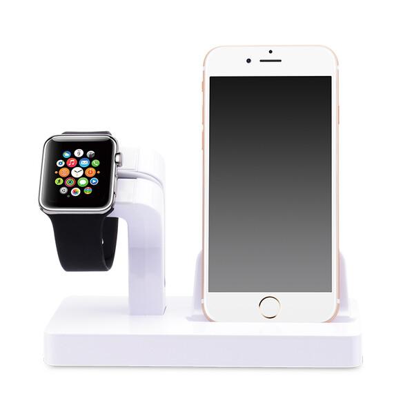 Белая док-станция CinkeyPro Charger Dock для Apple Watch и iPhone