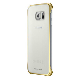 Купить Чехол Samsung Clear Cover Gold для Samsung Galaxy S6
