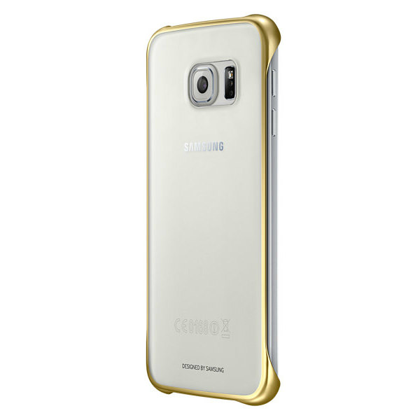 Чехол Samsung Clear Cover Gold для Samsung Galaxy S6