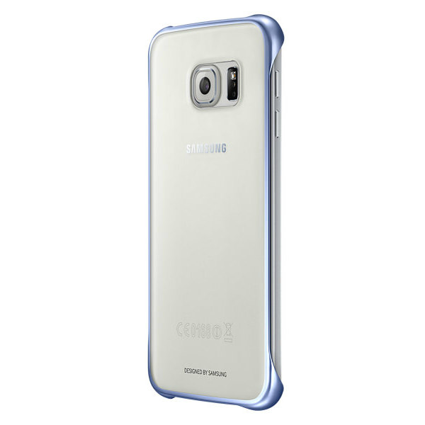 Чехол Samsung Clear Cover Blue для Samsung Galaxy S6