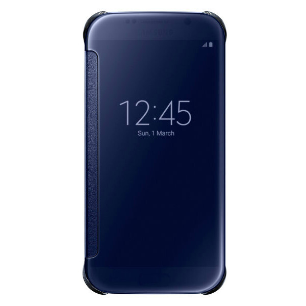 Чехол Samsung Clear View Cover Blue для Samsung Galaxy S6
