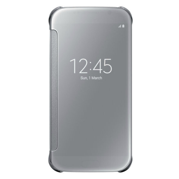 Чехол Samsung Clear View Cover Silver для Samsung Galaxy S6