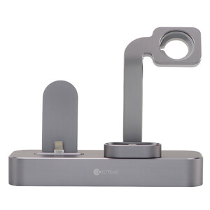 Купить Док-станция COTEetCI 3 in 1 Multifunction Charging Stand Deep Gray для Apple Watch/iPhone/AirPods