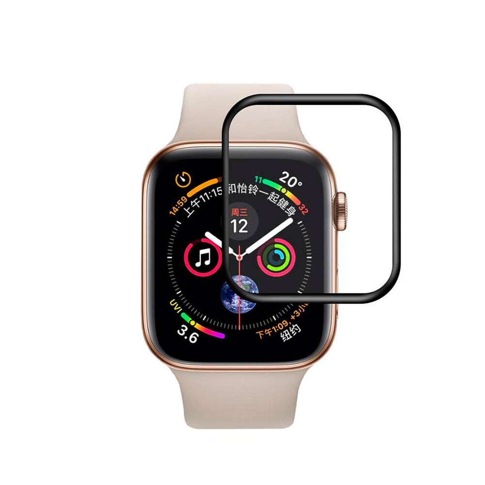 Защитное стекло 3D Tempered Glass Curved Edge Black для Apple Watch 40mm Series 4