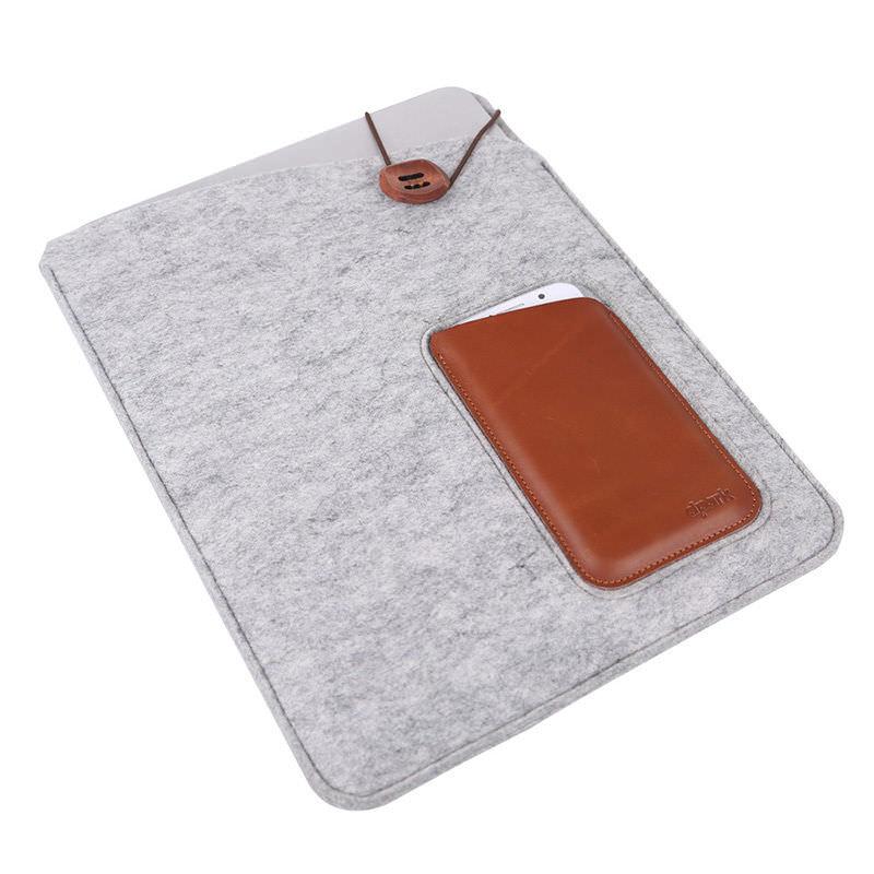 Light gray с карманами под iphone ipad для macbook 12