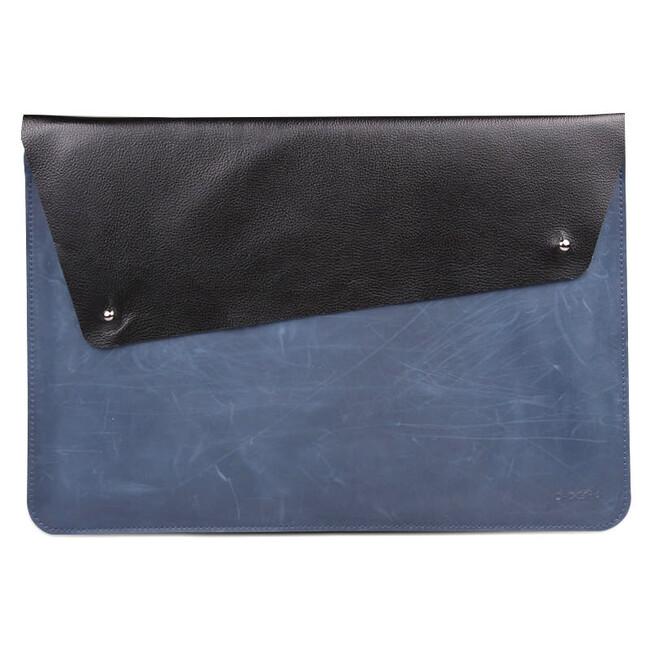 "Кожаный чехол d-park Fighter Blue для Apple Macbook 12"""