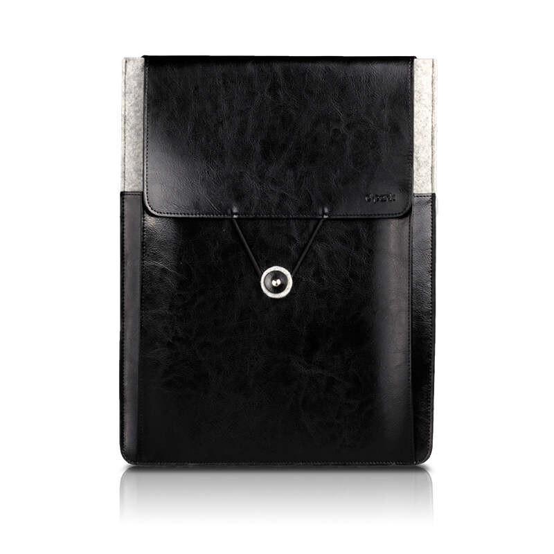 "Кожаный чехол d-park Postman Black для Apple Macbook 12""/Air 11"""