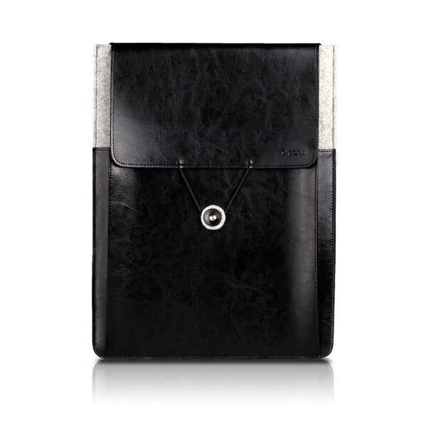 "Кожаный чехол d-park Postman Black для Apple Macbook 12"" | Air 11"""