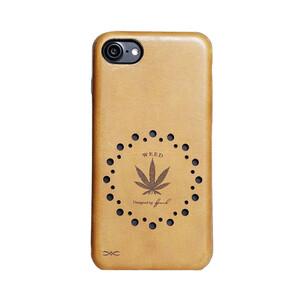 Купить Чехол из натуральной кожи d-park Vintage Weed для iPhone 7
