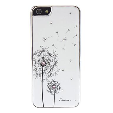 Белый чехол Dandelion SWAROVSKI для iPhone 5/5S/SE