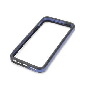 Купить Двухцветный черно-синий бампер для iPhone 5/5S/SE