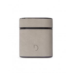 Купить Кожаный чехол с карабином Decoded Aircase Gray Stone для AirPods
