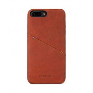 Купить Кожаный чехол с отделением для карт Decoded Back Cover Brown для iPhone 8 Plus/7 Plus/6s Plus/6 Plus