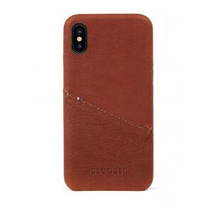 Купить Кожаный чехол с отделением для карт Decoded Back Cover Brown для iPhone X/XS