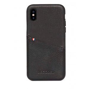 Купить Кожаный чехол с отделением для карт Decoded Back Cover Black для iPhone X/XS