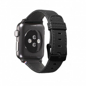 Купить Кожаный ремешок Decoded Leather Strap Black для Apple Watch 38mm/40mm Series 5/4/3/2/1