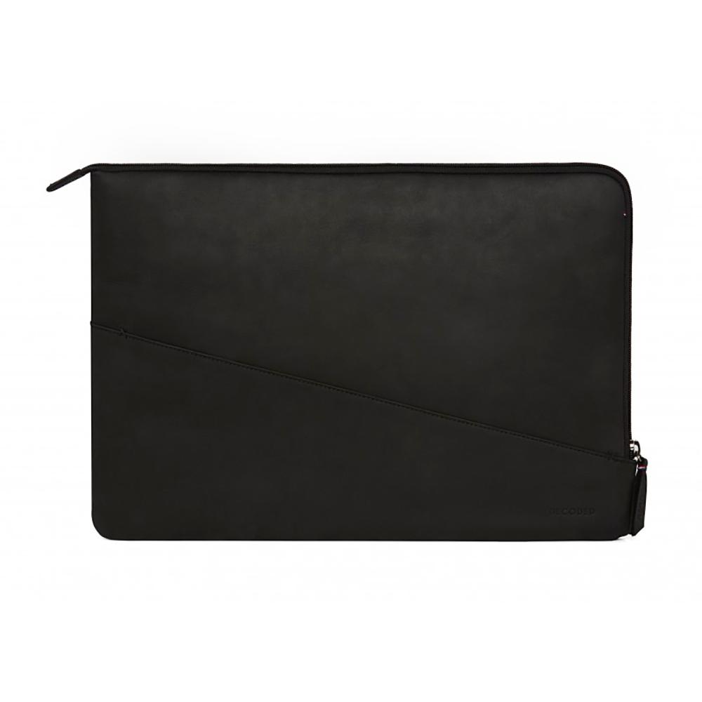 "Купить Кожаный чехол-сумка Decoded Waxed Slim Sleeve Black для MacBook Pro 16"" | Pro 15"" with Touch Bar (2016-2017)"