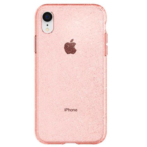 Защитный чехол Spigen Liquid Crystal Glitter Rose Quartz для iPhone XR