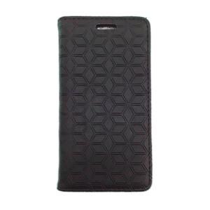 Купить Кожаный чехол Diamond Grid Black для iPhone 5/5S/SE