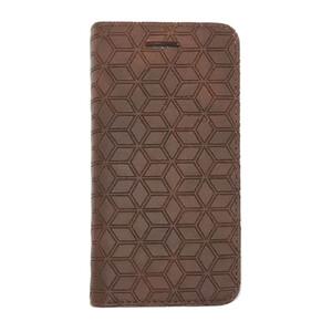 Купить Кожаный чехол Diamond Grid Brown для iPhone 5/5S/SE
