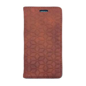 Купить Кожаный чехол Diamond Grid Light Brown для iPhone 5/5S/SE
