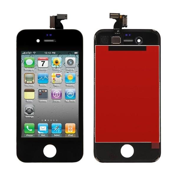Дисплей с тачскрином (оригинал, черный) для iPhone 4