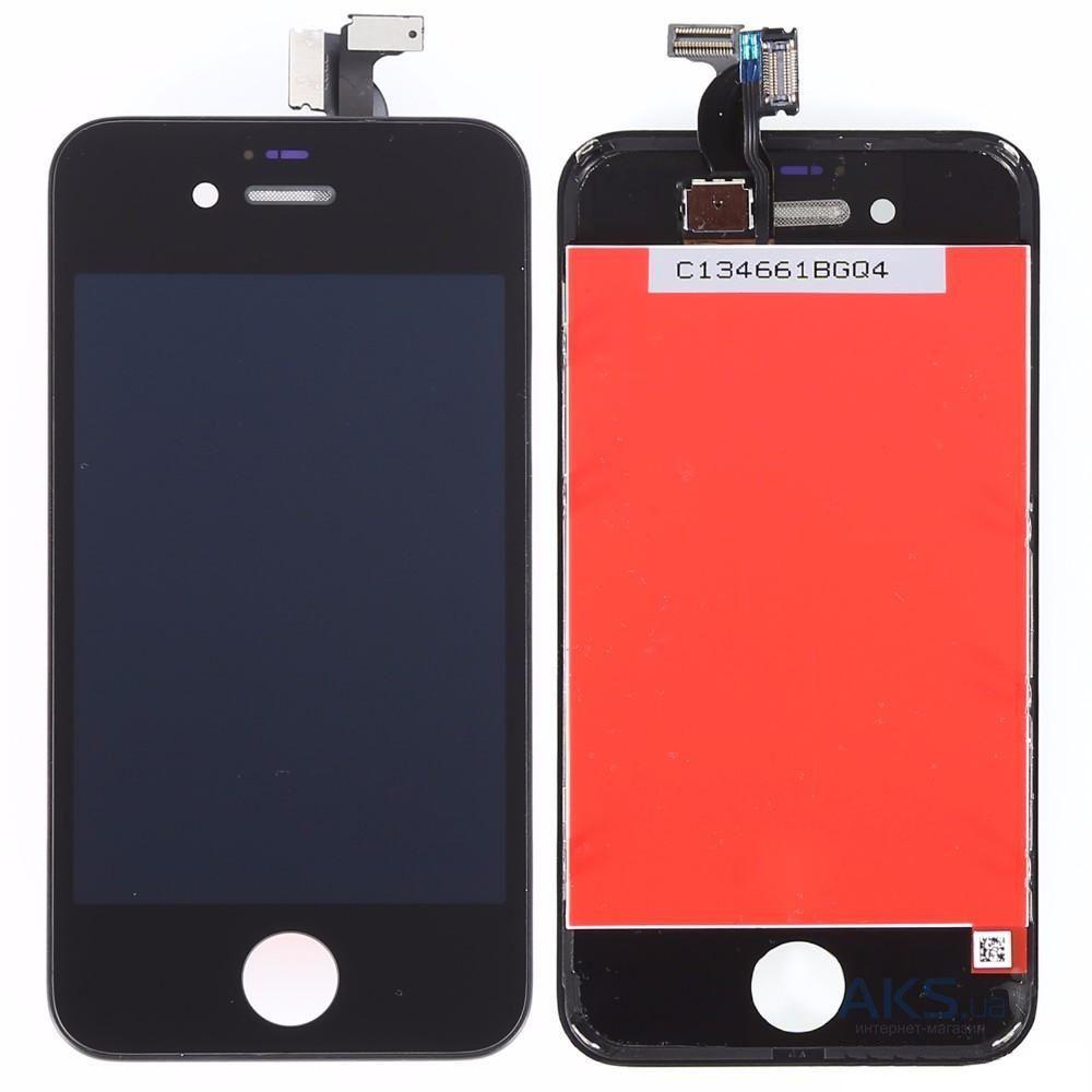 Купить Дисплей с тачскрином (оригинал, черный) для iPhone 4s