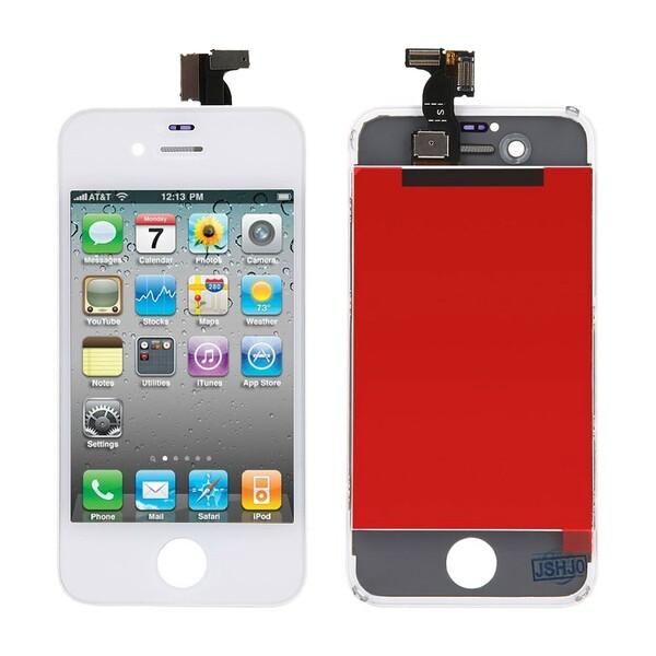 Дисплей с тачскрином (оригинал, белый) для iPhone 4