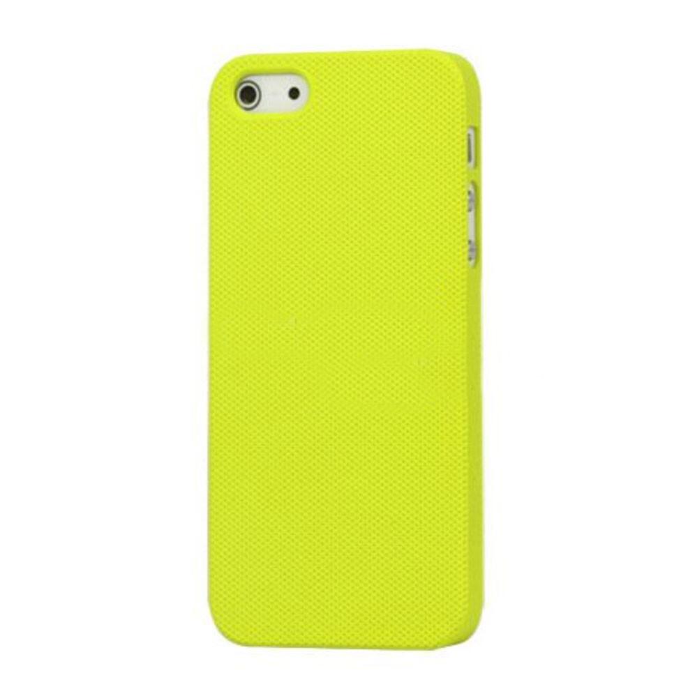 Пластиковый желтый чехол Dots для iPhone 5/5S/SE