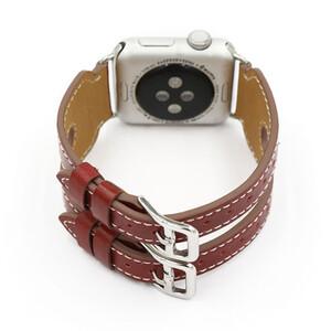 Купить Кожаный ремешок Double Buckle Red для Apple Watch 42mm Series 1/2