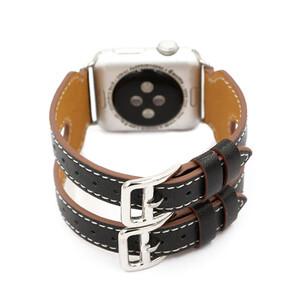 Купить Кожаный ремешок Double Buckle Black для Apple Watch 42mm Series 1/2