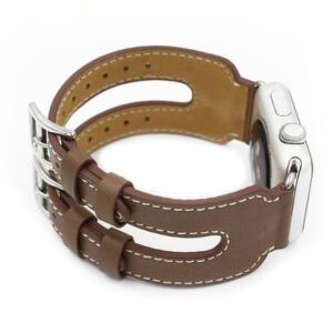 Купить Кожаный ремешок Double Buckle Taupe для Apple Watch 38mm Series 1/2/3