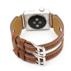 Купить Кожаный ремешок Double Buckle Brown для Apple Watch 42mm Series 1/2