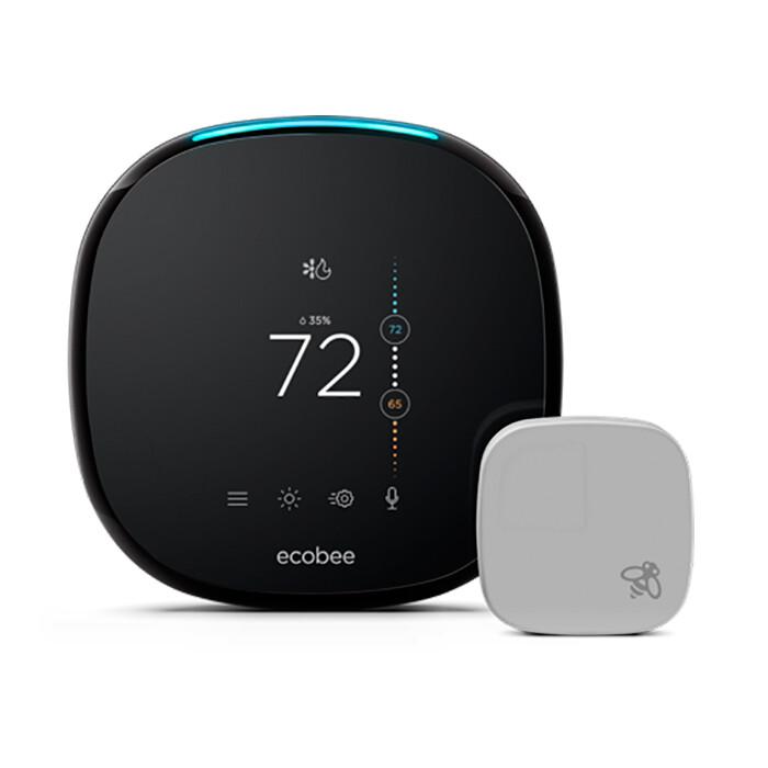 Умный термостат ecobee4 Smart Wi-Fi Thermostat + Room Sensor
