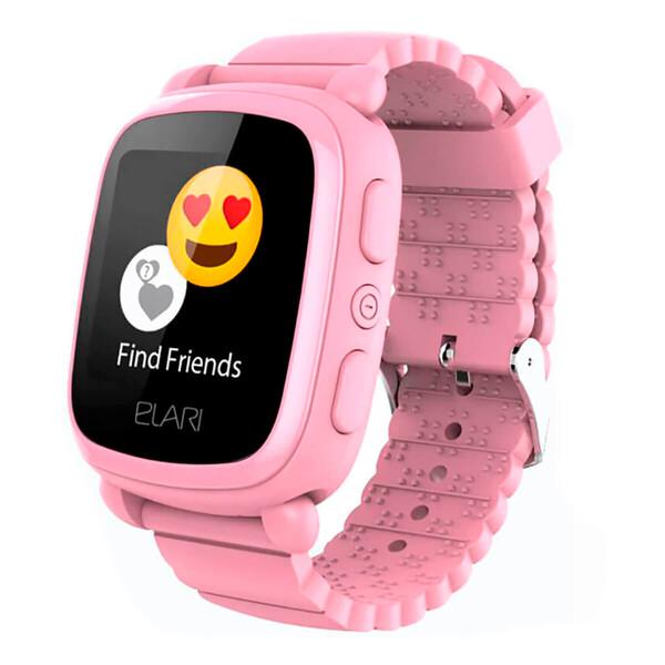Детские смарт-часы Elari KidPhone 2 Pink с GPS-трекером
