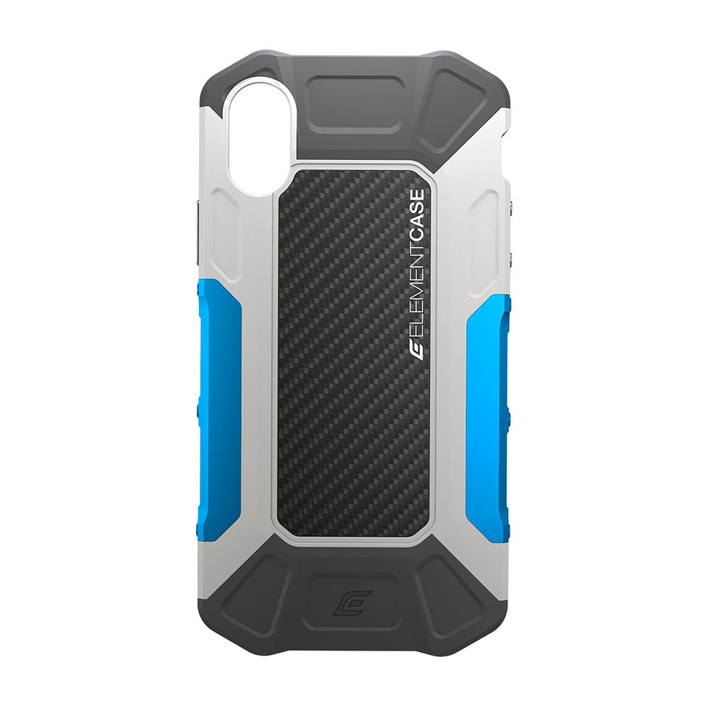 Купить Противоударный чехол-накладка Element Case FORMULA Grey | Blue для iPhone X | XS