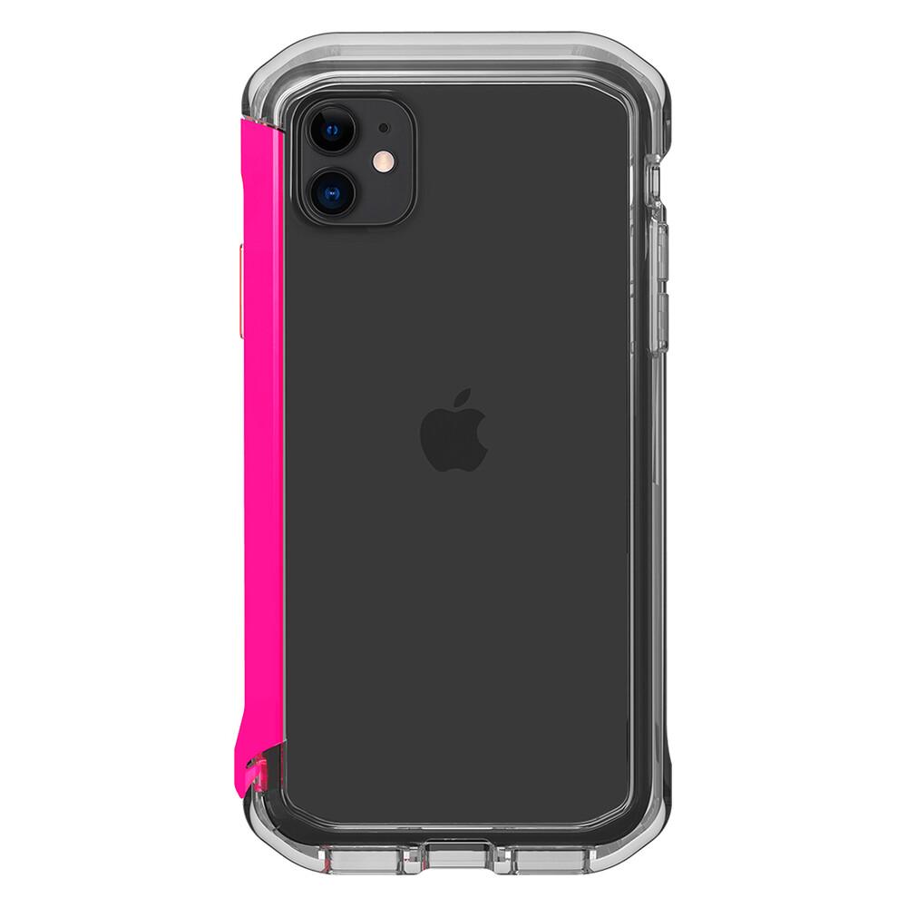 Купить Противоударный бампер Element Case Rail Clear   Flamingo Pink для iPhone 11