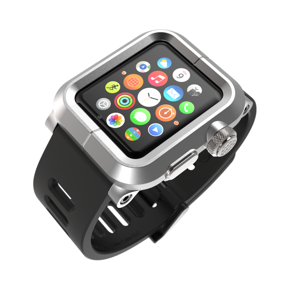 Чехол LUNATIK EPIK ALUMINUM Silver для Apple Watch Series 1 42mm