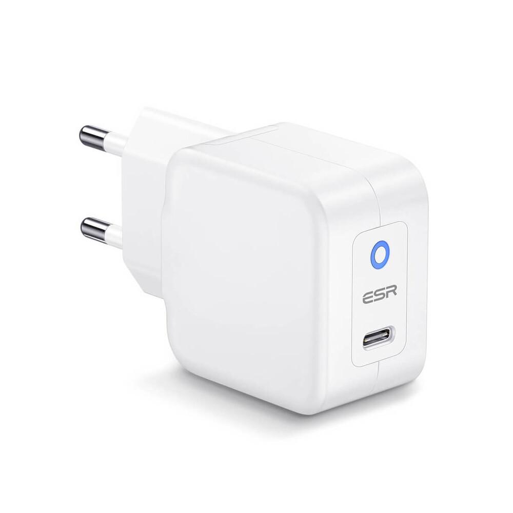 Купить Cетевое зарядное устройство  ESR USB-C mini PD Charger 20W (EU) для быстрой зарядки iPhone | iPad