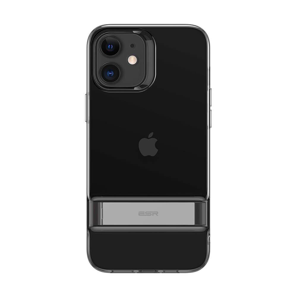 Черный силиконовый чехол-подставка ESR Air Shield Boost Matte Jelly Black для iPhone 12 mini