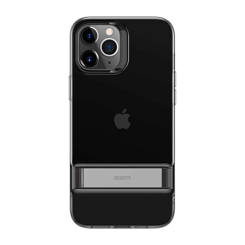 Черный силиконовый чехол-подставка ESR Air Shield Boost Matte Jelly Black для iPhone 12 Pro Max