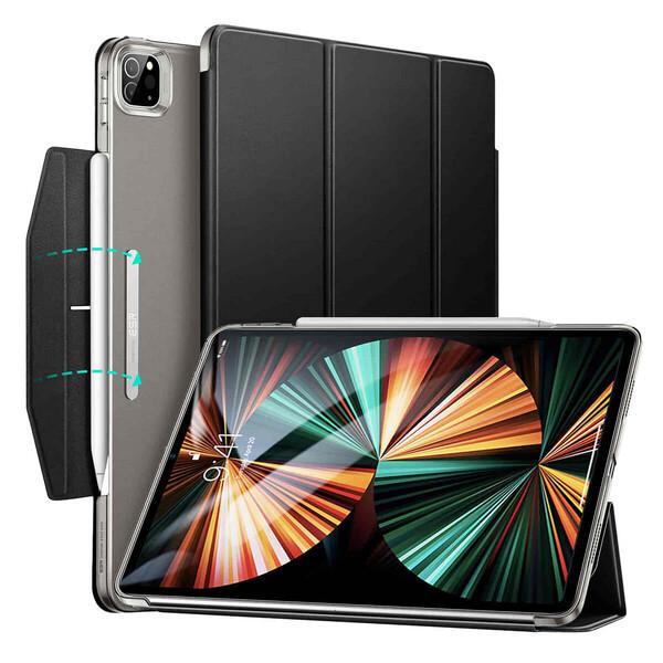 """Черный чехол-книжка с держателем для Apple Pencil ESR Ascend Trifold Black для iPad Pro 11"""" M1 (2021)"""