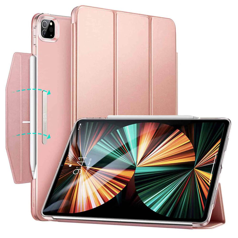 """Чехол-книжка с держателем для Apple Pencil ESR Ascend Trifold Rose Gold для iPad Pro 11"""" M1 (2021)"""