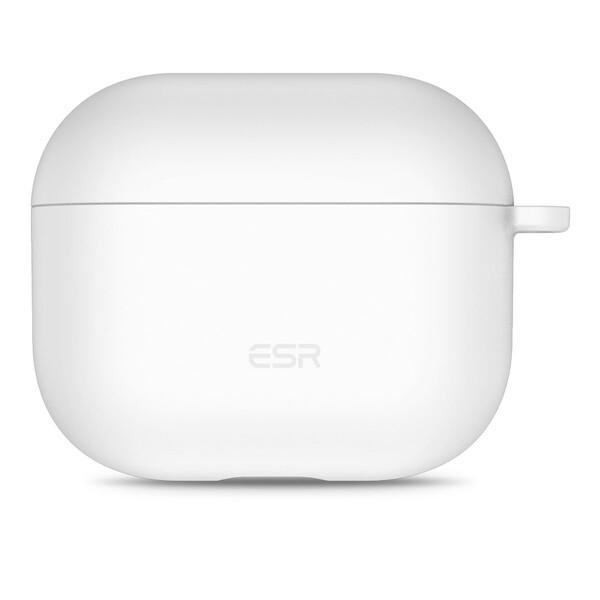 Силиконовый чехол с карабином ESR Bounce Protective Silicone Case White для AirPods 3 (2021)
