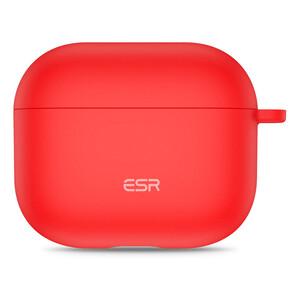 Купить Силиконовый чехол с карабином ESR Bounce Protective Silicone Case Red для AirPods 3 (2021)