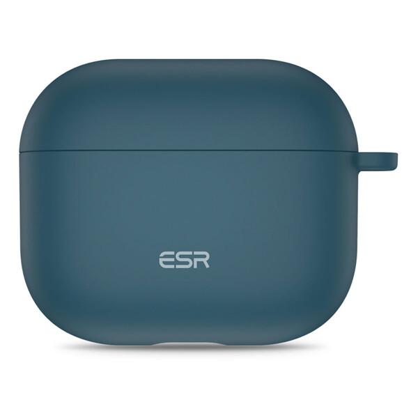 Силиконовый чехол с карабином ESR Bounce Protective Silicone Case Navy Blue для AirPods 3 (2021)