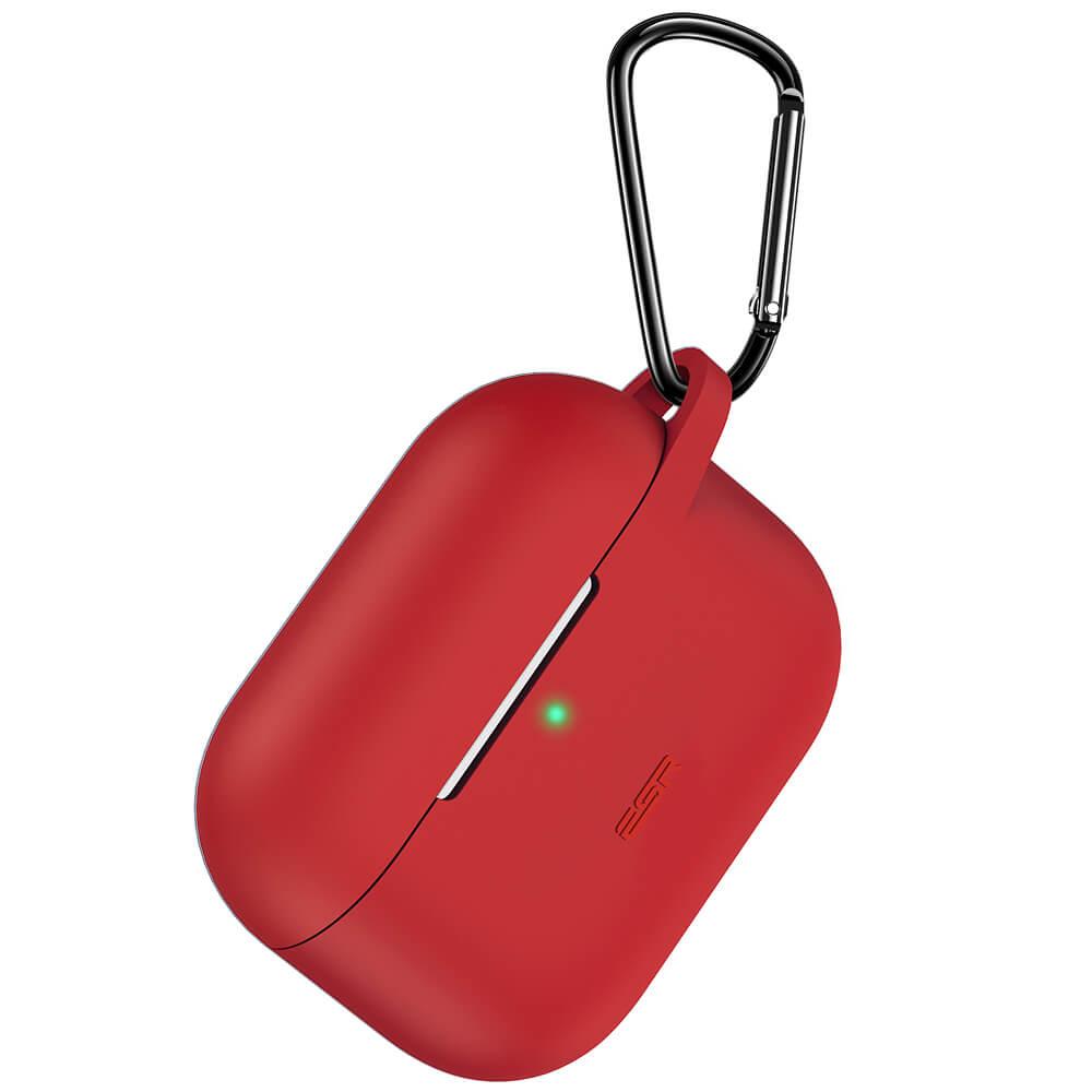 Купить Силиконовый чехол с карабином ESR Bounce Series Red для AirPods Pro
