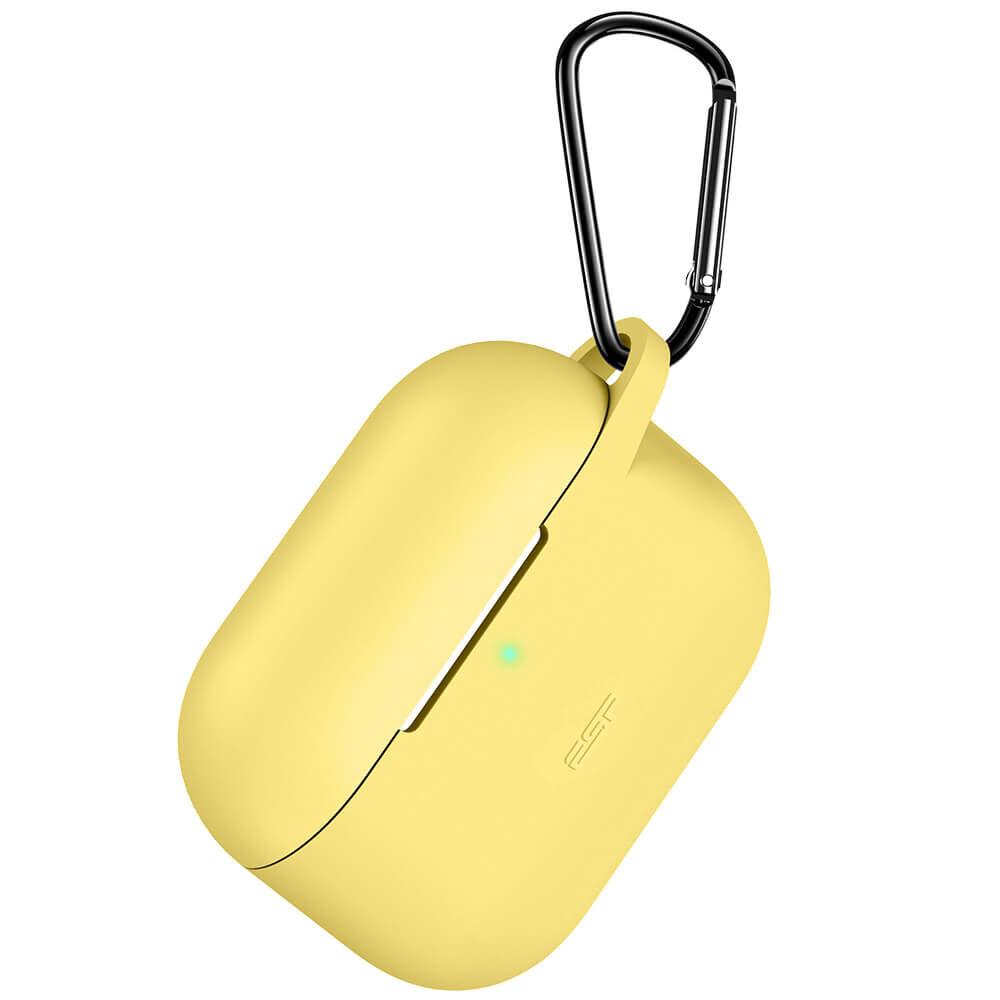 Силиконовый чехол с карабином ESR Bounce Series Yellow для AirPods Pro